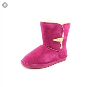 Bear paw Abigail pink suede boots good condition